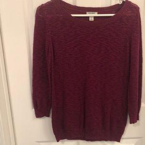 Old Navy maroon light sweater